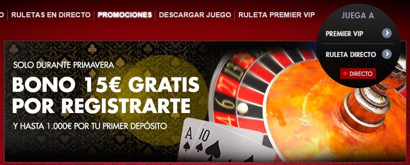 premier casino bono 19 euros