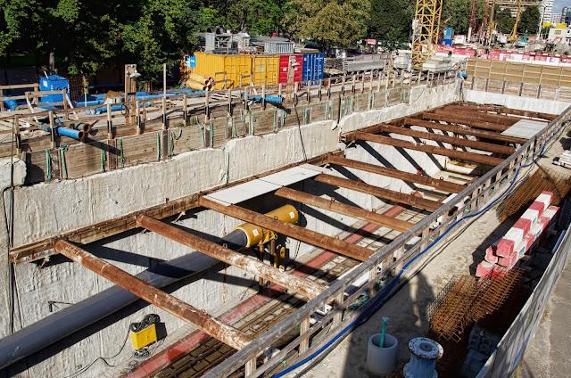 Baustelle Startschacht für die Tunnelbohrmaschine Baulogistikfläche für den Lückenschluss U5, Rathausstraße 19, 10178 Berlin, 01.10.2013