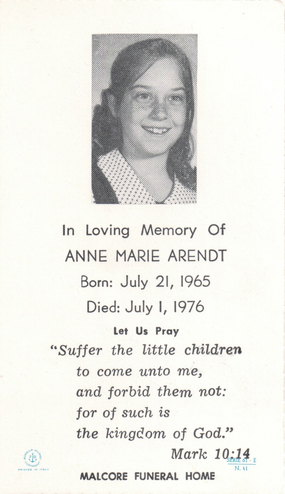 Wednesday's Child - Anne Marie Arendt