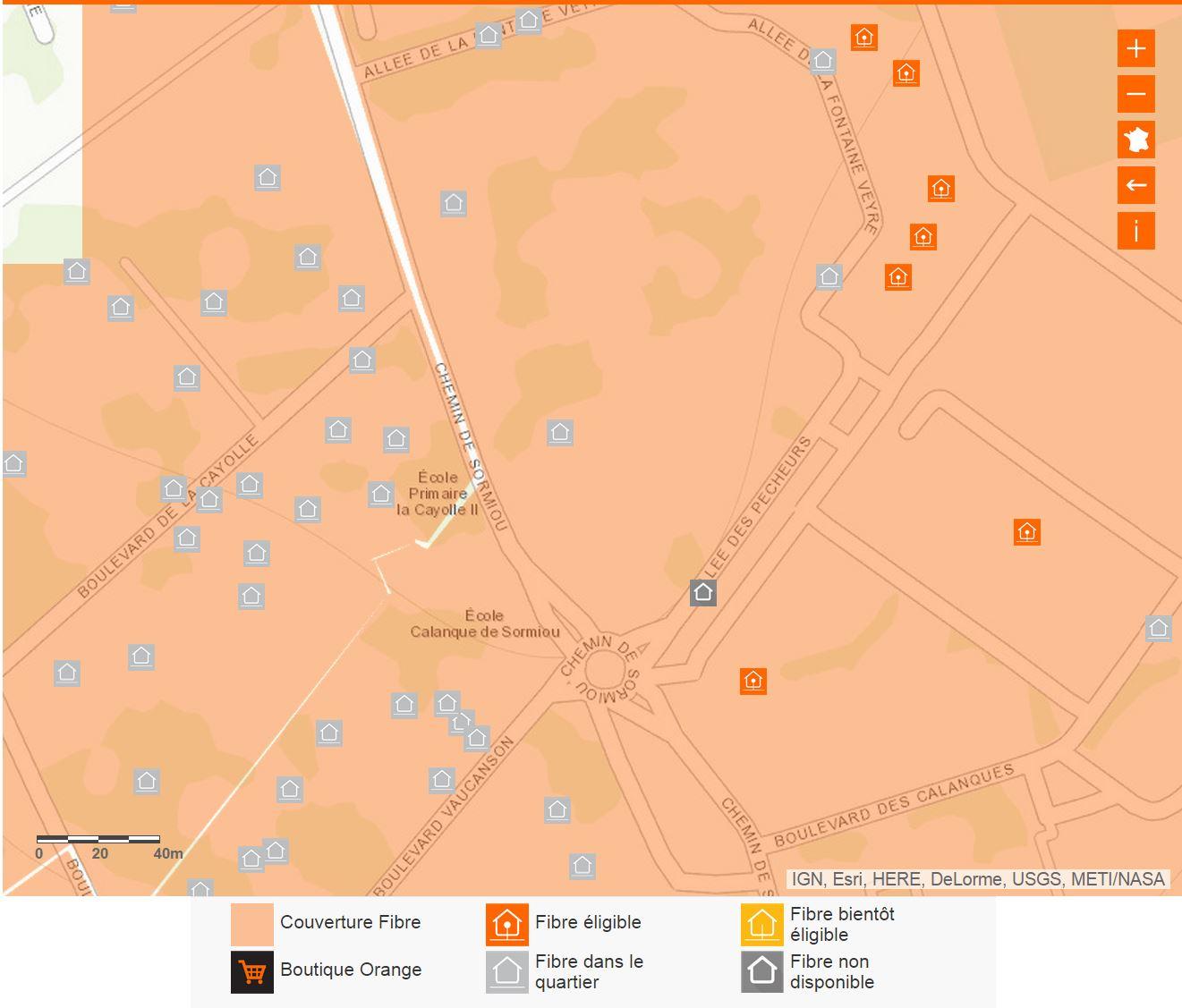 Hauts de Mazargues La Cayolle: Carte fibre orange dans notre quartier
