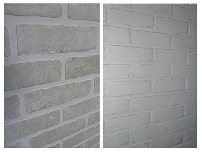 Les bricoles nicole juin 2011 - Peindre un mur en brique ...