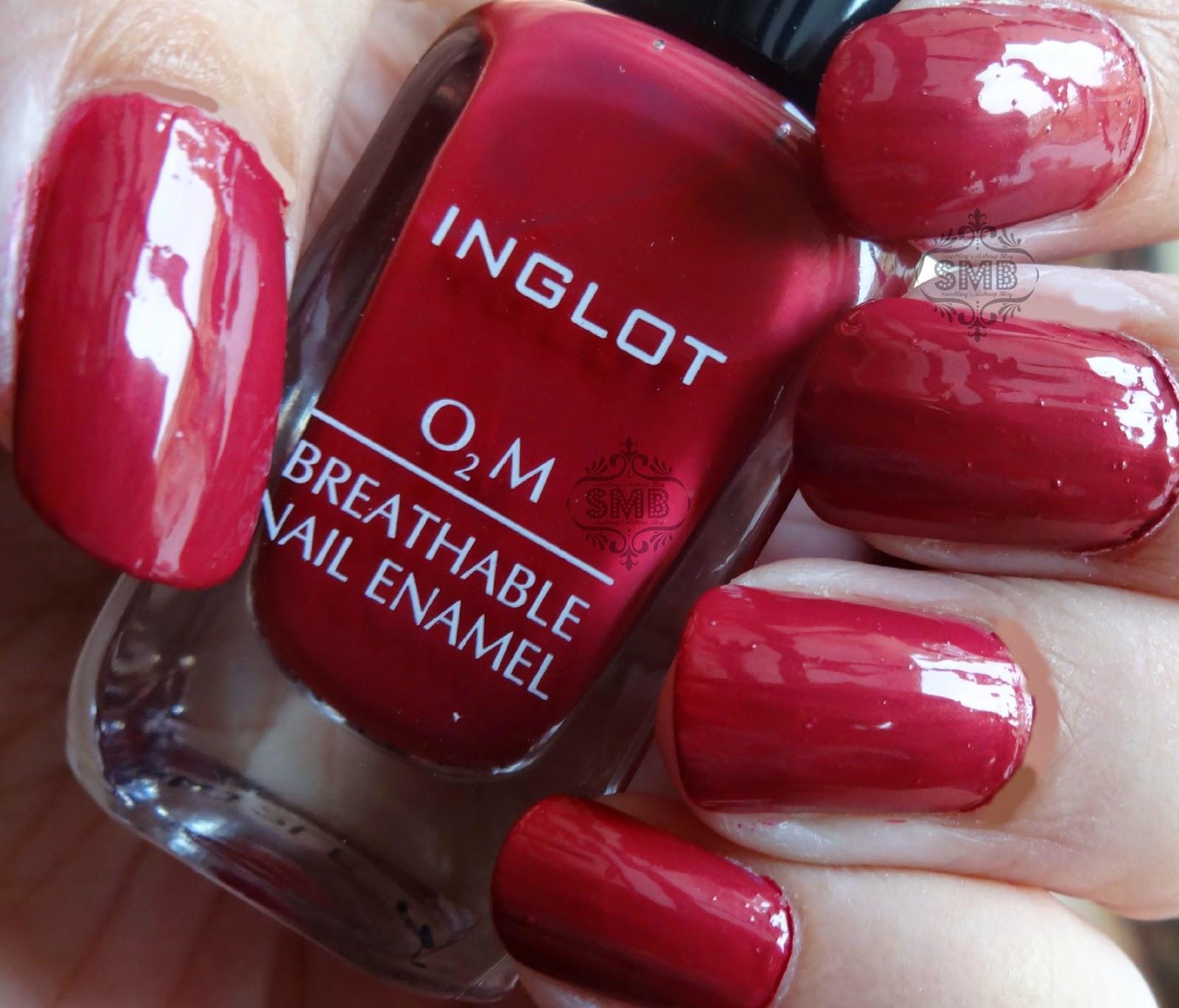 Inglot O2M breathable Nail Polish shade #689 | Sparkling Palette Blog