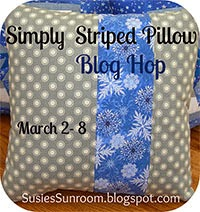 Simply Striped Pillow Blog Hop
