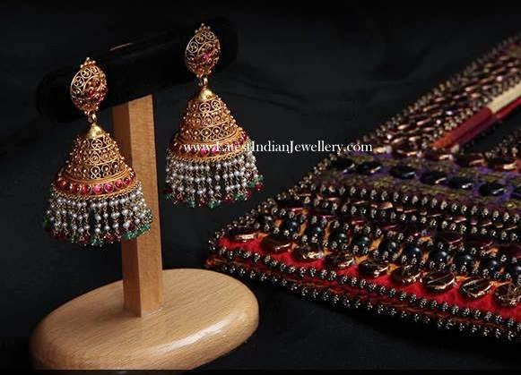 Unique Gold Jhumka Design