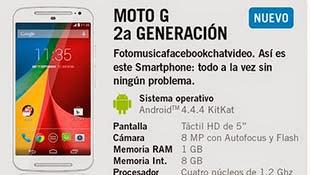 Motorola Moto G Segunda Generación con Yoigo: precios y características
