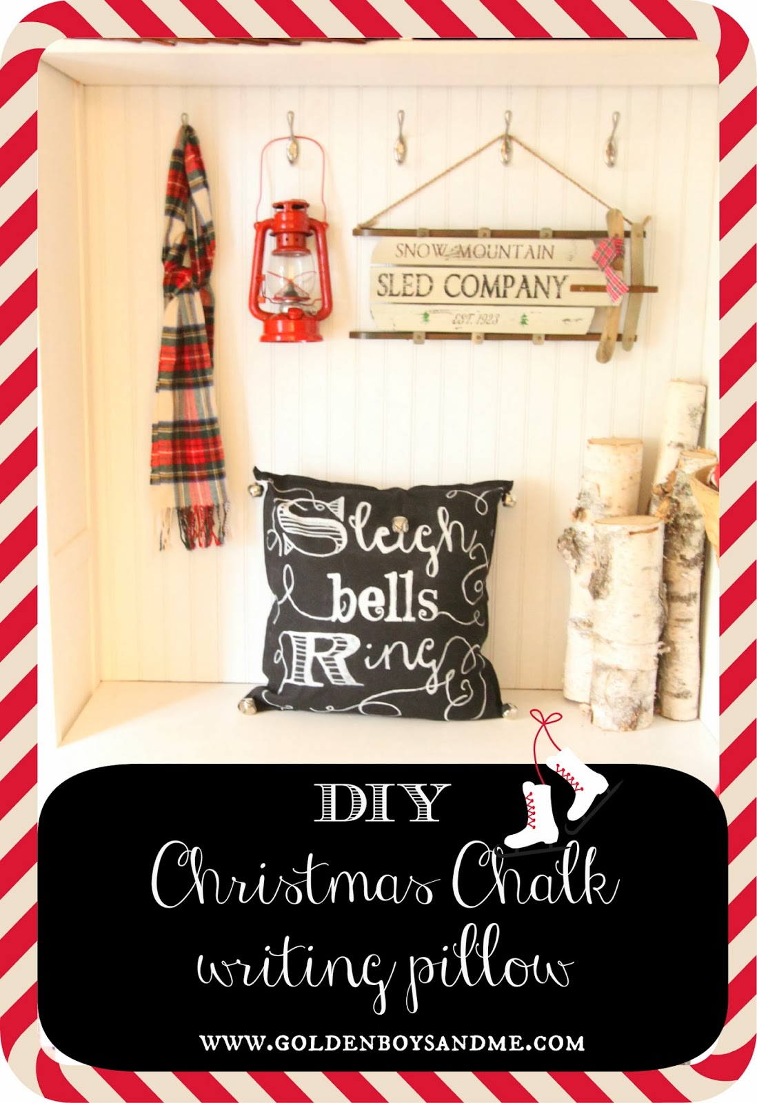 Diy Christmas Chalk Writing Pillow