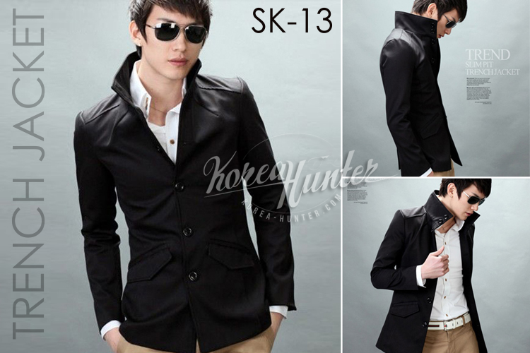 KOREA-HUNTER.com jual murah Korean Style Trench Jacket | kaos crows zero tfoa | kemeja national geographic | tas denim korean style blazer