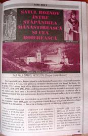 """Prima pagină a articolului din revista  """"Magazin Istoric"""", nr. 7/2011"""