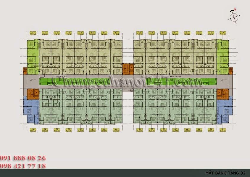 mặt bằng thiết kế tầng 2 chung cư thanh hà cienco 5 hà đông