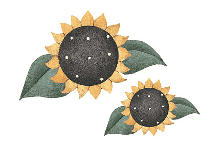 Dibujos de girasoles