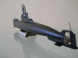 maqueta 1/144 del submarino alemán tipo 206A