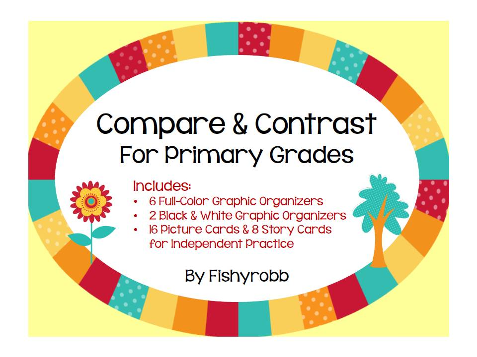 compare and contrast pictures first grade