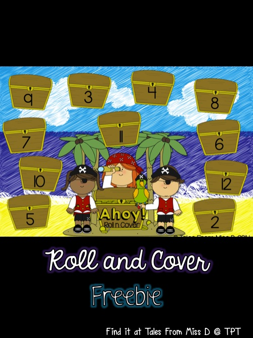 http://www.teacherspayteachers.com/Product/Pirate-Roll-and-Cover-1446769