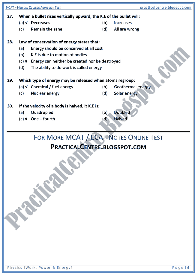 mcat-physics-work-power-and-energy-mcqs-for-medical-college-admission-test