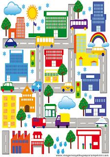 dibujos de ciudad para imprimir