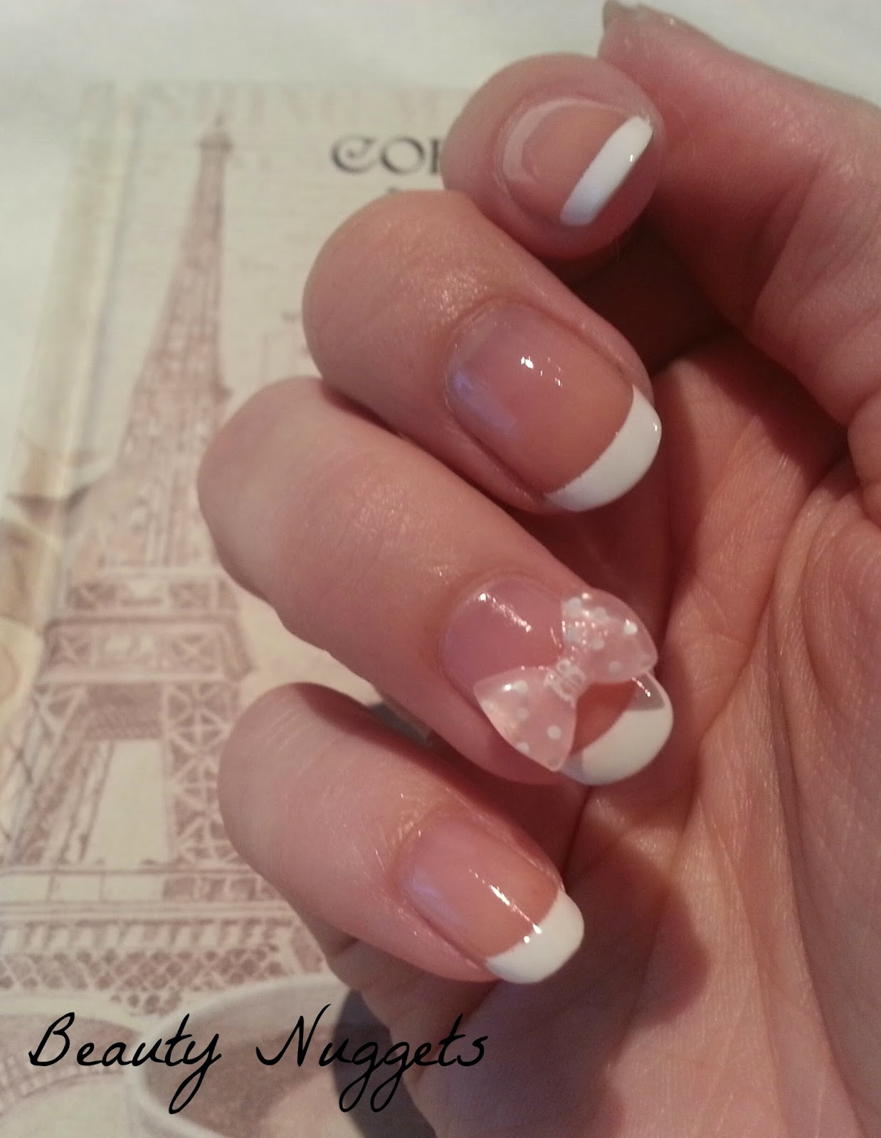 Beauty Nuggets: French Manicure with 3D Nail Art