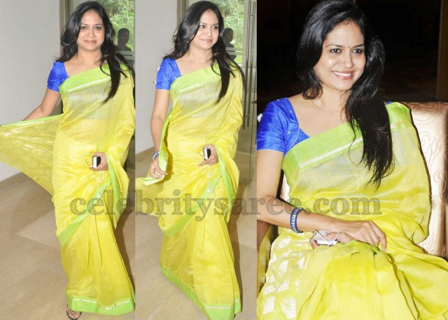 Sunitha Chanderi Cotton Saree