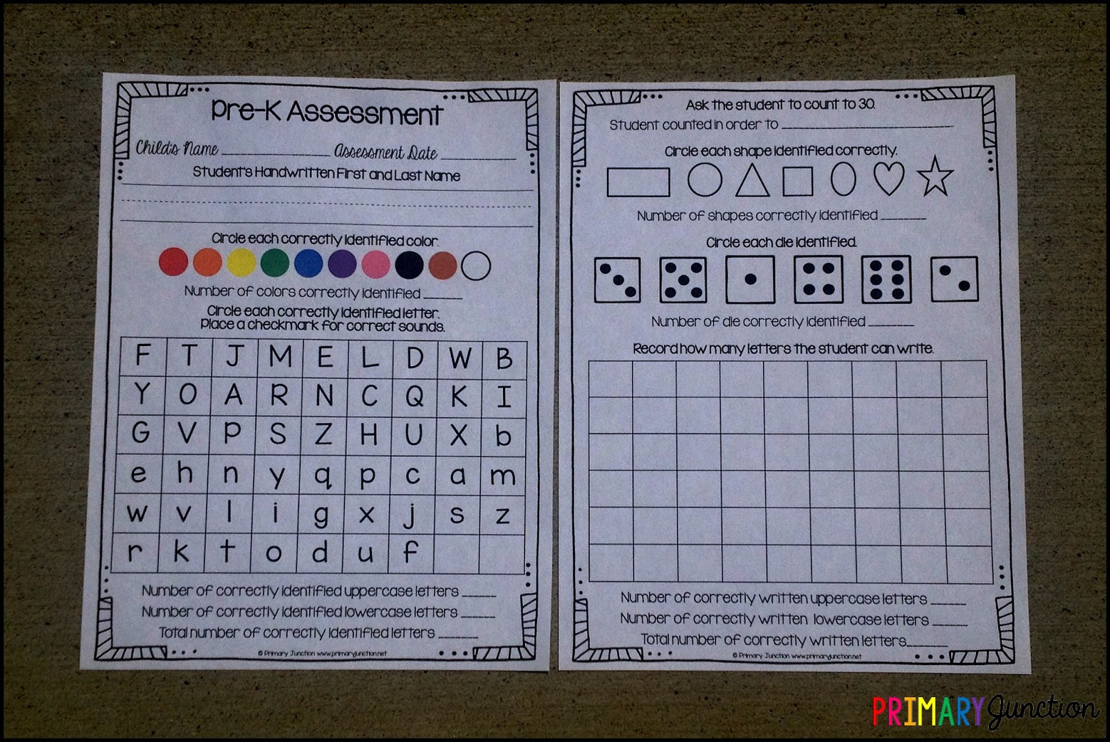 graphic about Free Printable Pre-k Assessment Forms called Main Junction: Absolutely free Pre-K Investigation