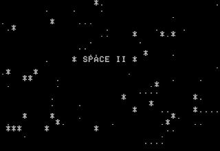 Pantalla de inicio de Space II