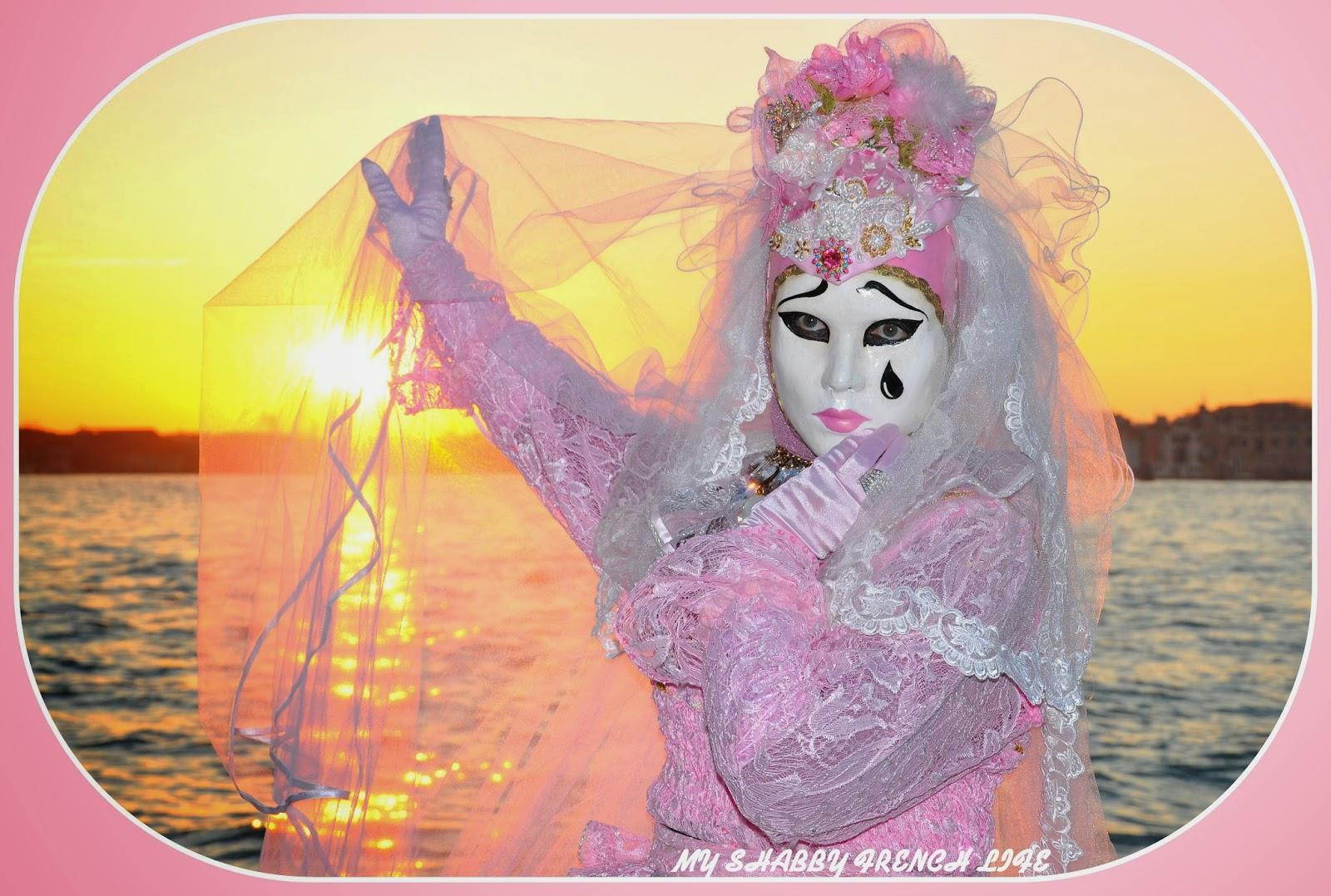 Carnaval de Venise rose 2015