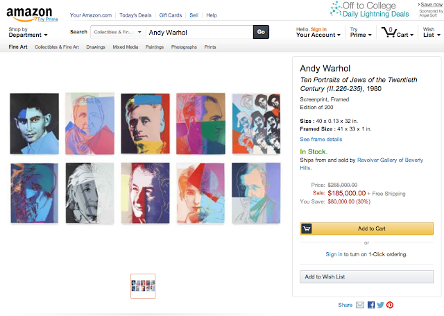 Andy Warhol Suite of 10 Jews Appears To Be A Scan from Andy Warhol Prints: A Catalogue Raisonne: 1962-1987