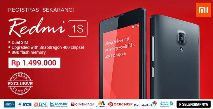 Harga dan Spesifikasi Xiaomi Redmi 1S Terbaru