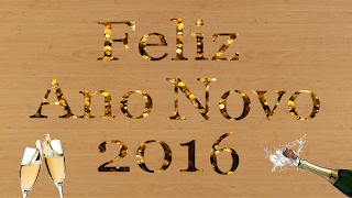Feliz Ano Novo 2016 + champagne