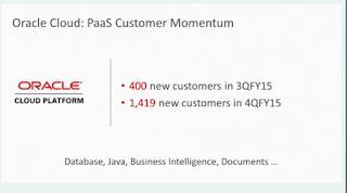 Enterprise Software Musings - Oracle PaaS Momentum in Q4 2015