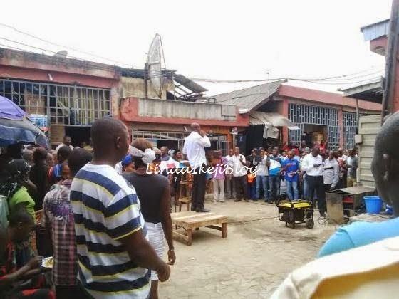 Pics: Pastor Taribo West Preaching at Alaba Market 4