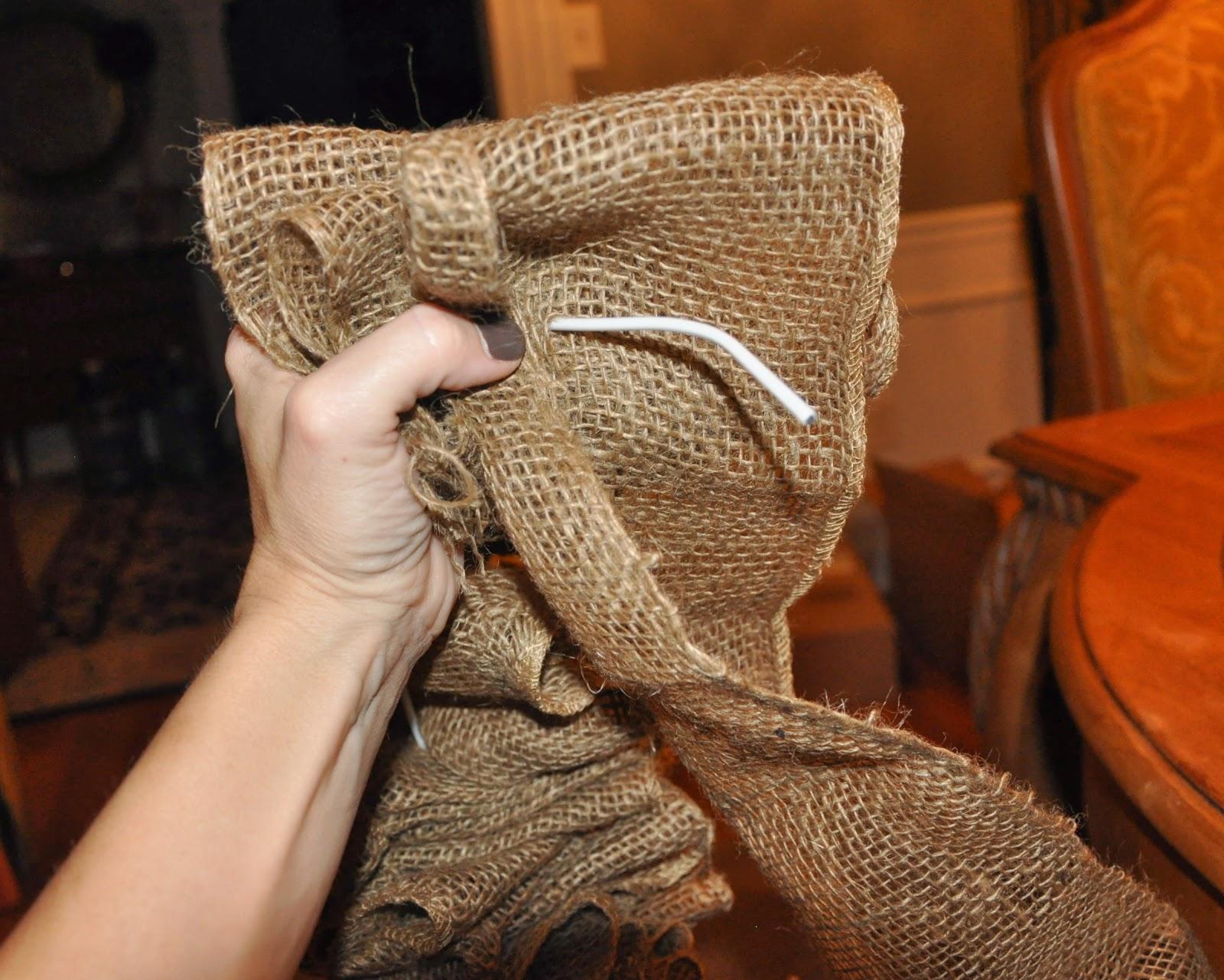Ribbon wreath tutorial on wire hanger - Burlap Wreath