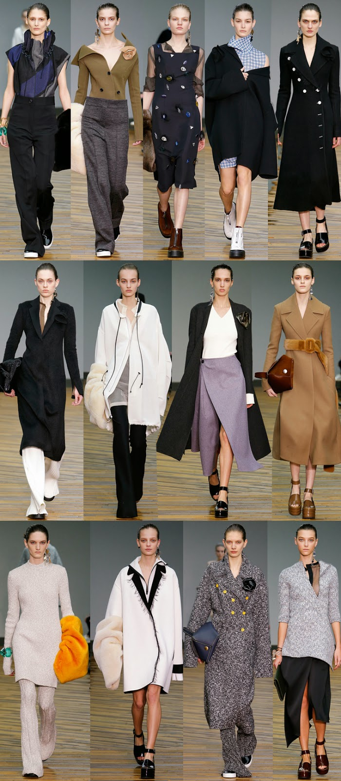 Céline by Phoebe Philo fall winter 2014 runway collection, PFW, FW14, AW14, Paris fashion week