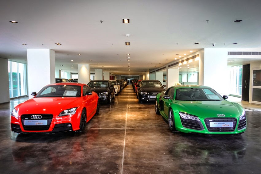 Audi India Inaugurates Countrys Largest Preowned Luxury Car - Audi car showroom