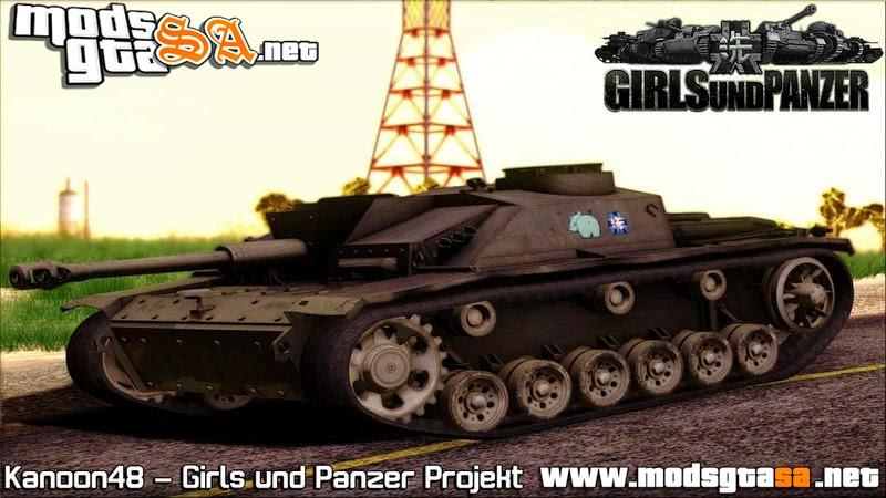 SA - StuG III Ausf. G - Girls und Panzer (Tanque de Querra)