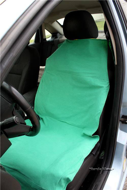 DIY Shopping Bag Car Seat Protector