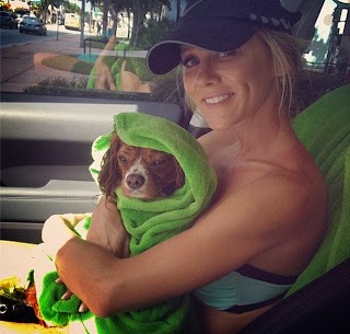 Joanna Krupa holds her dog so tightly on Twitter