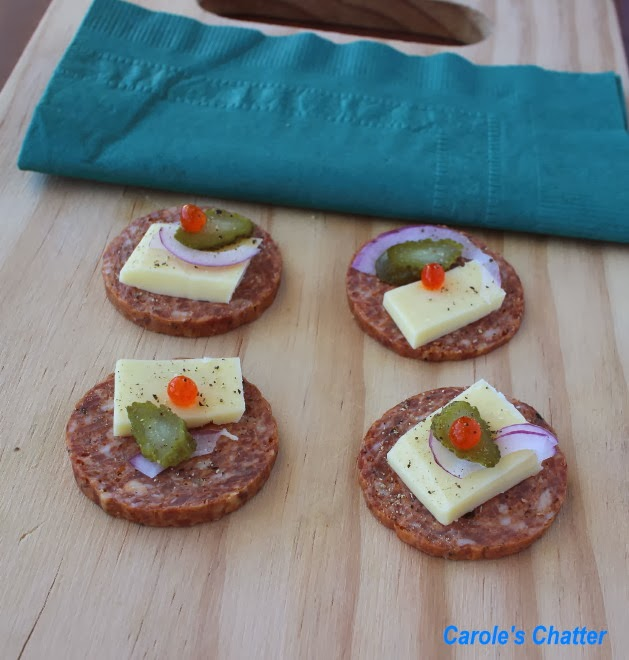 Salami 'crackers' by Carole's Chatter
