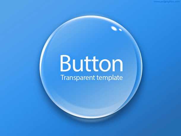 Round Transparent Button PSD
