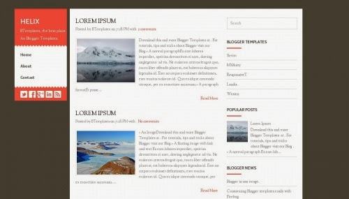 helix simple exilent layout blogger template 2014