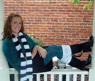 SOMO Skinny Scarf crochet pattern from The Hookeraholic Crochet