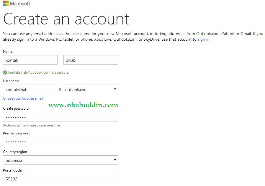 Cara Membuat Email Baru Di Microsoft/Live