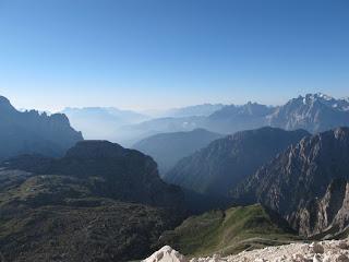 Morgennebel über dem Val d'Ansiei