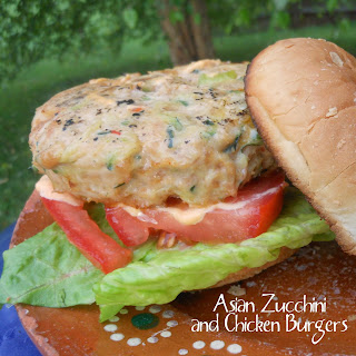 Asian Zucchini Chicken Burgers
