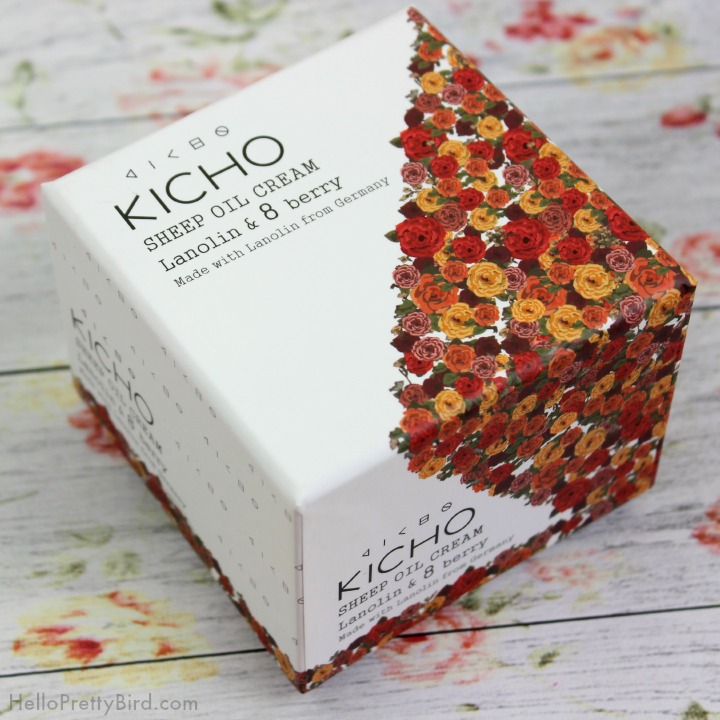 Review of Kicho Cosmetics Sheep Oil Cream with lanolin and 8 berry complex.