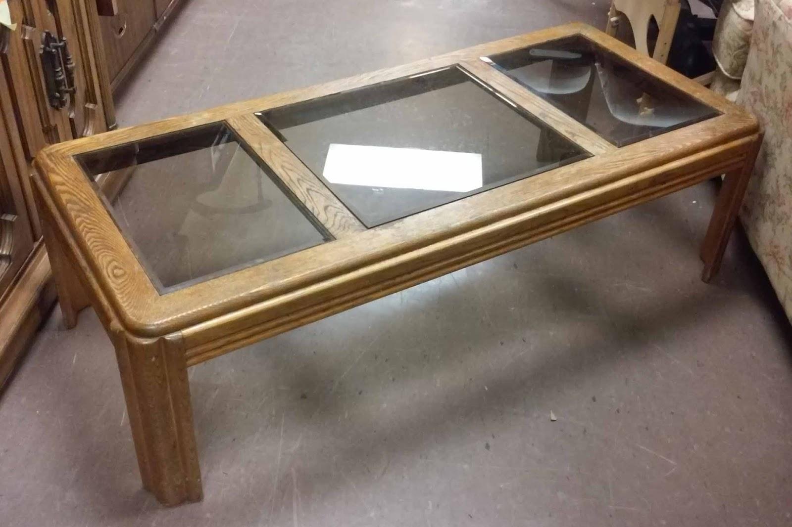 uhuru furniture  u0026 collectibles  sold oak coffee table with