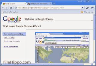 صورة من داخل متصفح جوجل كروم
