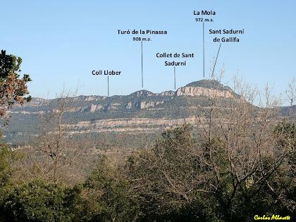 Els Cingles de Gallifa des de la Pinassa. Autor: Carlos Albacete