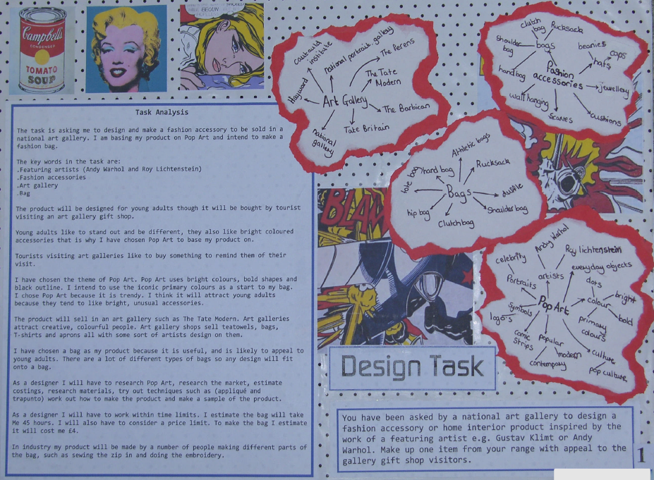 Gcse textiles coursework customer profile