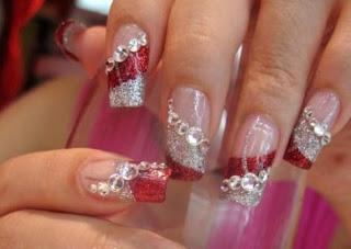 U as decoradas con piedras de fantasia belleza y peinados - Piedras para decorar unas ...