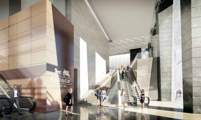 Picture of south tower lobby with escalators