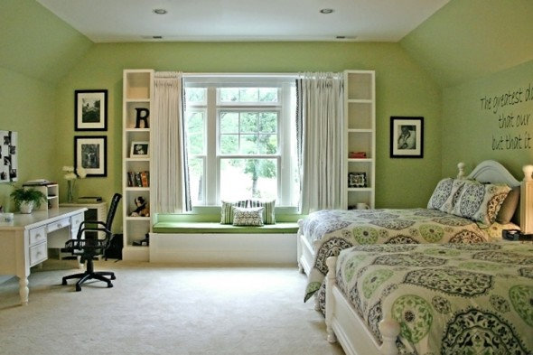 Teen Girl Bedroom Ideas Green